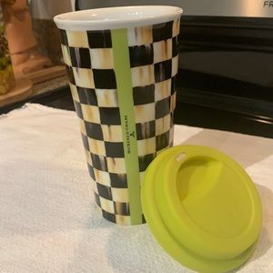 Mackenzie Childs Courtly check travel mug